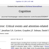 Challenge and error: Critical events and attention-related errors