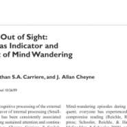 Out of Mind, Out of Sight: Eye Blinking as Indicator and Embodiment of Mind Wandering